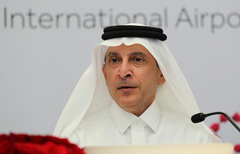 """Qatar Airways CEO Akbar al-Baker warned it will be """"survival of the fittest"""" for the airline industry devastated by the coronavirus epidemic (AFP Photo/KARIM JAAFAR)"""