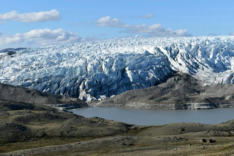 A giant prehistoric lake more than a mile beneath the ice has been discovered in Greenland. (SWNS)