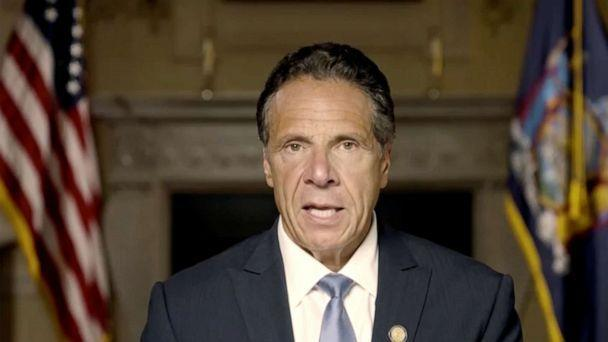 PHOTO: New York Governor Andrew Cuomo makes a statement in this screen grab taken from a pre-recorded video released by Office of the NY Governor, in New York, Aug. 3, 2021. (Office Of Gov. Andrew M. Cuomo via Reuters)
