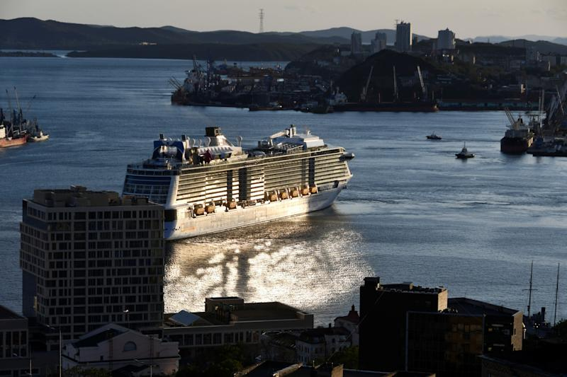 A view shows the Quantum of the Seas cruise ship at a port of Vladivostok, Russia September 18, 2019. REUTERS/Yuri Maltsev