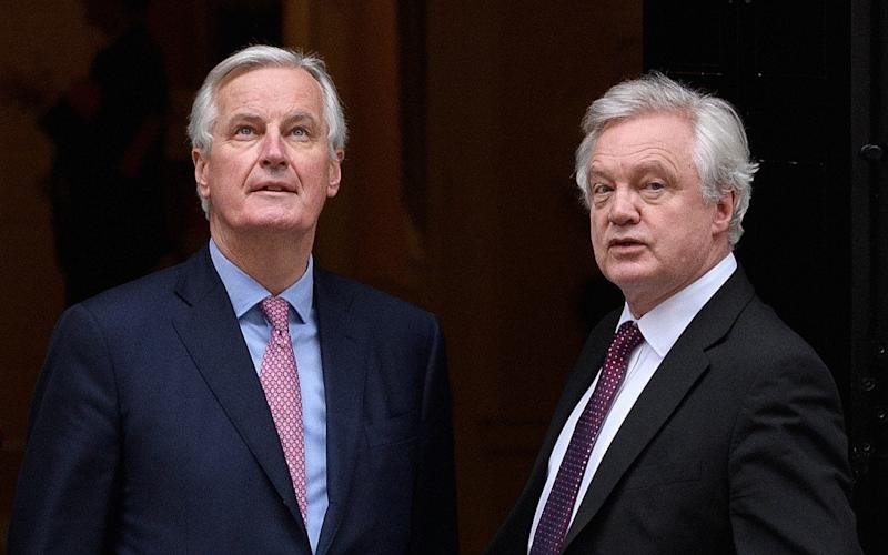 Michel Barnier and David Davis are set to meet again today - Getty Images Europe