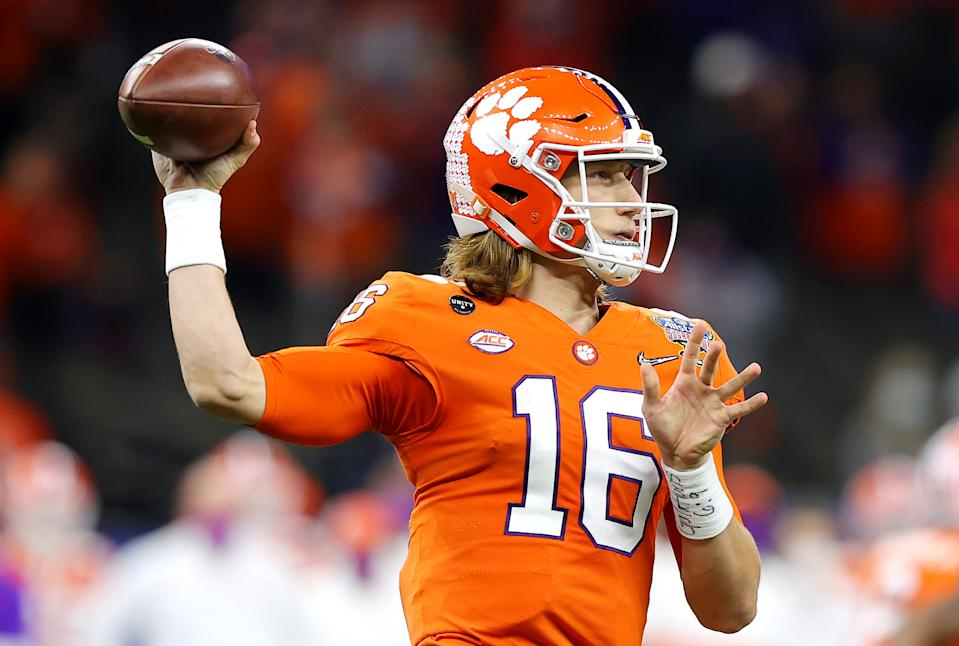 It would be stunning if Clemson QB Trevor Lawrence wasn't the first pick in the 2021 NFL draft. (Photo by Kevin C. Cox/Getty Images)