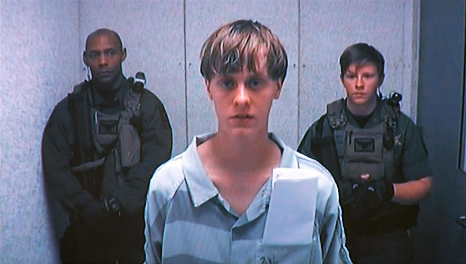 Dylann Storm Roof appears by closed-circuit televison at his bond hearing in Charleston, South Carolina June 19, 2015 in a still image from video. A 21-year-old white man has been charged with nine counts of murder in connection with an attack on a historic black South Carolina church, police said on Friday, and media reports said he had hoped to incite a race war in the United States. REUTERS/POOL TPX IMAGES OF THE DAY