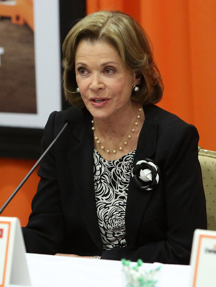 "UNIVERSAL CITY, CA - MAY 04:  Actress Jessica Walter attends The Netflix Original Series ""Arrested Development"" Press Conference at Sheraton Universal on May 4, 2013 in Universal City, California.  (Photo by Jesse Grant/Getty Images for Netflix)"