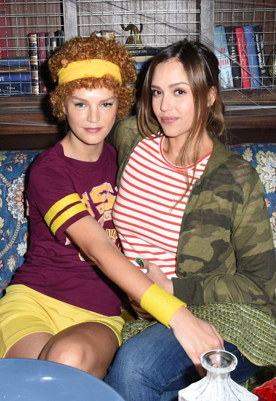 """<p>As Paulie Bleeker and Juno from the film of the same name. For more best friend Halloween costume ideas, <a href=""""https://www.elle.com/uk/fashion/what-to-wear/news/g31166/17-of-the-best-bff-halloween-costumes-best-friends/"""" rel=""""nofollow noopener"""" target=""""_blank"""" data-ylk=""""slk:we've got you covered."""" class=""""link rapid-noclick-resp"""">we've got you covered.</a></p>"""