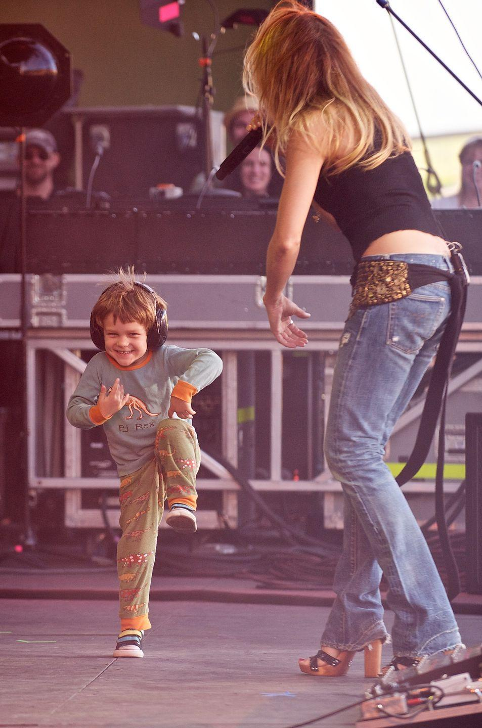 <p>Wyatt Crow accompanied his mother, Sheryl Crow, to the Lilith Fair in 2010. The three-year-old busted out some dance moves onstage, while his mother was performing — much to the audience's delight, we'd imagine. </p>