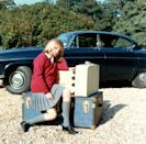 "<p>Diana sits on her suitcases as she prepares to go to boarding school at Riddlesworth Hall. Distraught over the separation from her home, she <a href=""http://www.dailymail.co.uk/femail/article-4601340/Diana-s-tapes-reveal-deeply-unhappy-childhood.html"" rel=""nofollow noopener"" target=""_blank"" data-ylk=""slk:told her father"" class=""link rapid-noclick-resp"">told her father</a>, ""If you love me, you won't leave me here."" </p>"