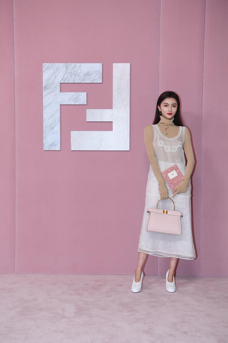 Influencer Donggua Didi at Fendi Shanghai show. (PHOTO: Fendi)