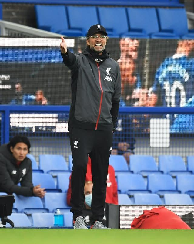 Liverpool manager Jurgen Klopp saw his team move a point closer to ending a 30-year wait for the title (PA)