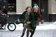 """This image released by 20th Century Fox shows Sophie Nélisse, left, and Nico Liersch in a scene from """"The Book Thief,"""" about a girl who loves books. (AP Photo/20th Century Fox, Jules Heath)"""