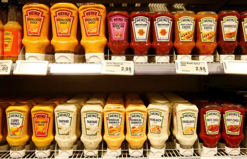 FILE PHOTO: Various Heinz sauces of U.S. food company Kraft Heinz are offered at a supermarket of Swiss retail group Coop in Zumikon