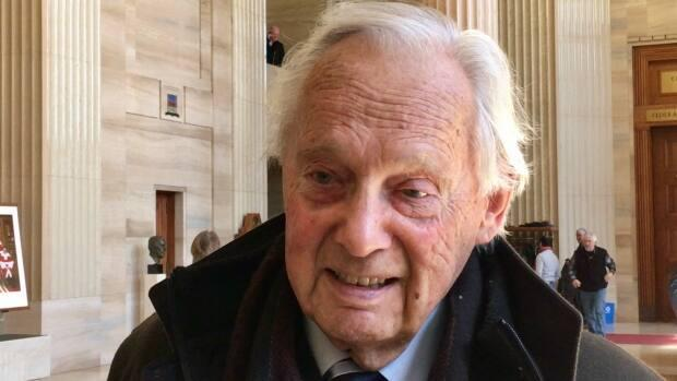 Thomas Berger at the Supreme Court of Canada in Ottawa. Berger died on Wednesday at age 88. (Cheryl Kawaja/CBC - image credit)