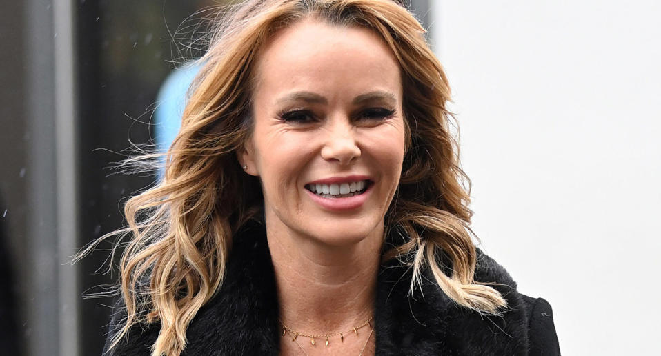 LONDON, ENGLAND - OCTOBER 02: Amanda Holden seen leaving Heart Breakfast Radio Studios on October 02, 2020 in Leicester Square, London, England. (Photo by Karwai Tang/WireImage)