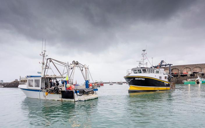 Last week French fishing vessels blocked the port of St Helier in Jersey over the fishing licenses row - Gary Grimshaw/Balliwick Express