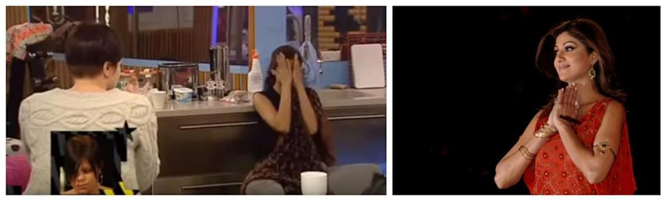 Shilpa Shetty was bullied by other housemates (YouTube/PA Images)