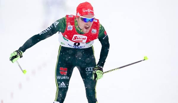 Nord. Kombination: Rießle in Val di Fiemme Dritter, Geiger mit Olympianorm