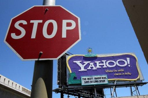 File picture shows a Yahoo! billboard in San Francisco, California. Yahoo! is dumping products along with workers in a quest to return the faded Internet star to glory