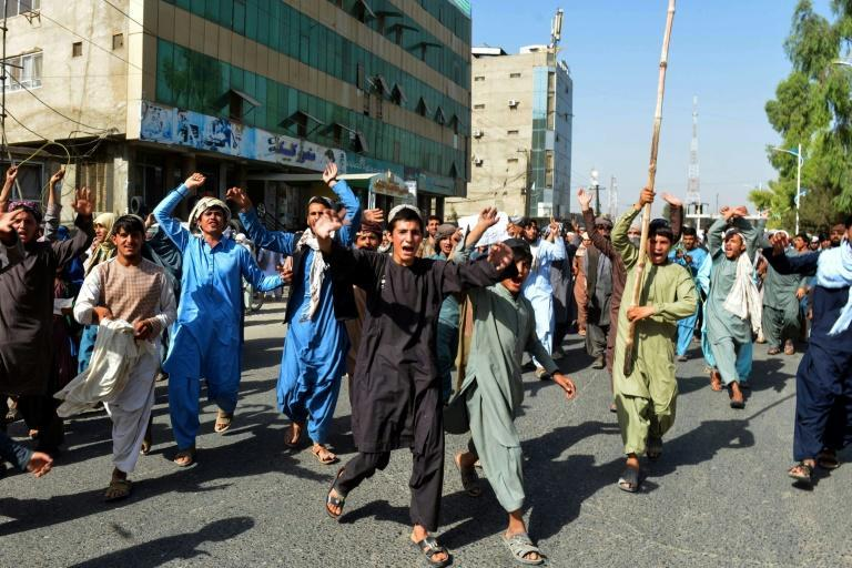 In response to the protest, Kandahar's governor has temporarily stayed any eviction until the matter can be discussed with community elders (AFP/Javed TANVEER)