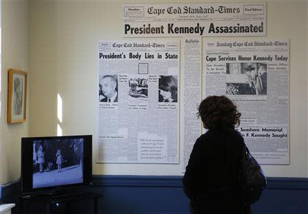 Visitors tour the John F. Kennedy Hyannis Museum in Hyannis, Massachusetts November 14, 2013. November 22 will mark the 50th anniversary of his assassination in 1963. REUTERS/Brian Snyder