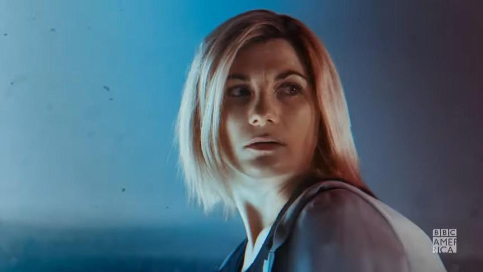Jodie Whittaker's Thirteenth Doctor turns around pensively in the teaser for series 13 of Doctor Who.