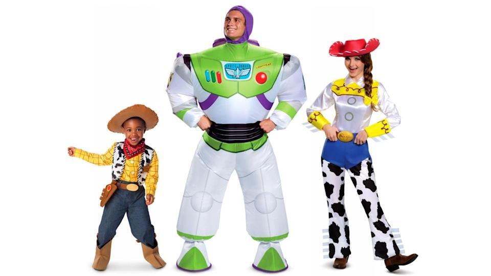 This fun family costume idea will take you to infinity and beyond!
