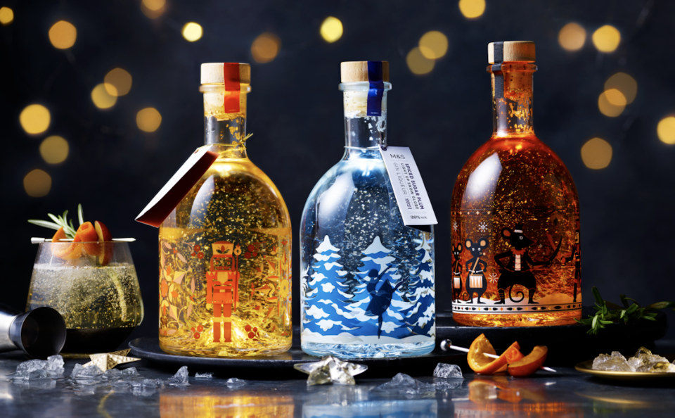 M&S' magical snow globe gins are back. (Marks & Spencer)