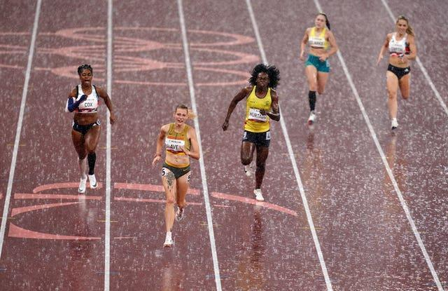 Kadeena Cox, left, lost her Paralympic record and the T38 400m title