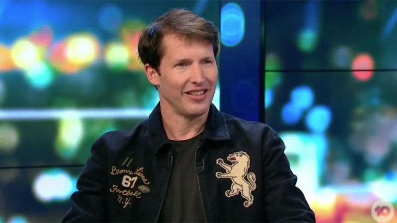 James Blunt appeared to discuss 'Monsters' his song about his dad's illness. Photo: Ten