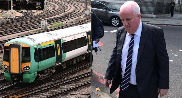 Joseph McKeraghan, 59, struck ladders at a train depot in Croydon, south London, around half an hour into his afternoon shift on December 27 2018, Westminster Magistrates' Court heard. (PA)