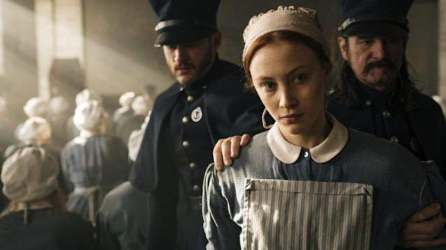 Sarah Gadon in <em>Alias Grace</em>. (Photo: Netflix)