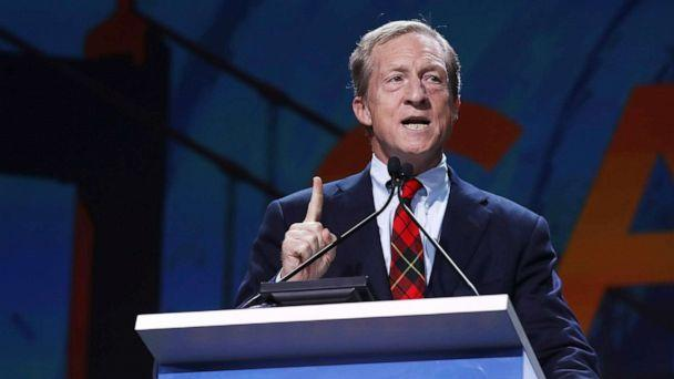 PHOTO: Tom Steyer speaks during the California Democrats 2019 State Convention at the Moscone Center on June 01, 2019, in San Francisco. (Justin Sullivan/Getty Images, FILE)