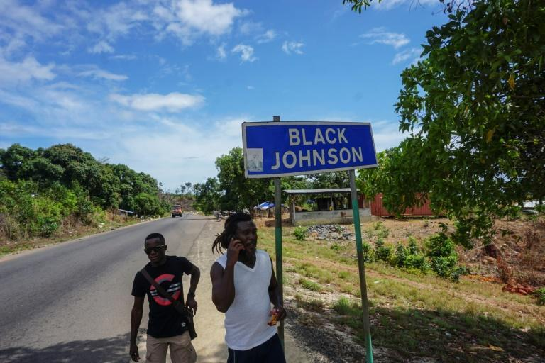 Many residents of Black Johnson village are against the planned industrial harbour in their lush village