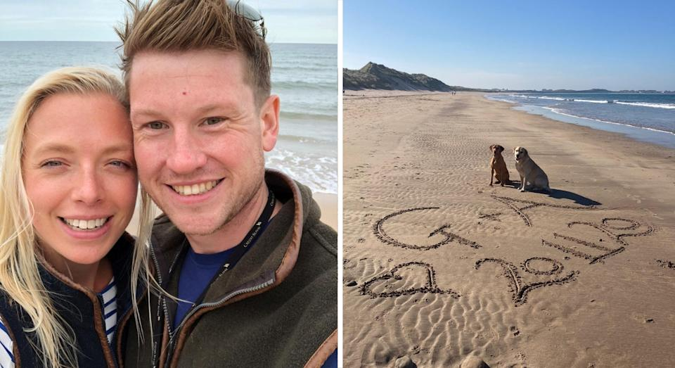 Aly and Gareth were meant to marry on November 20 this year (SWNS)