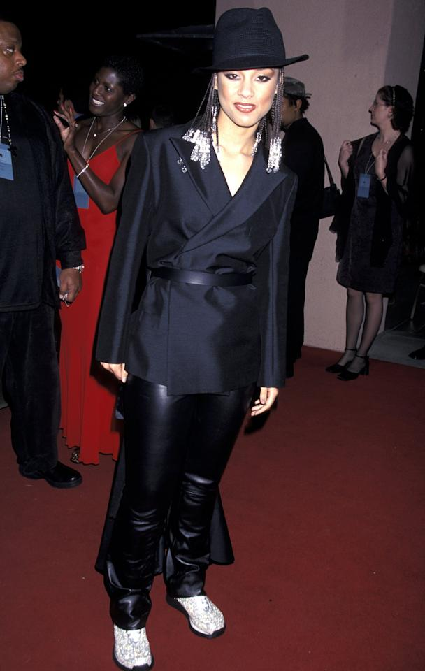 A 19-year-old Keys rocked braids, white sneakers and a black fedora at the 42nd Annual Grammy Awards Arista Records Pre-Grammy Party in 2000.