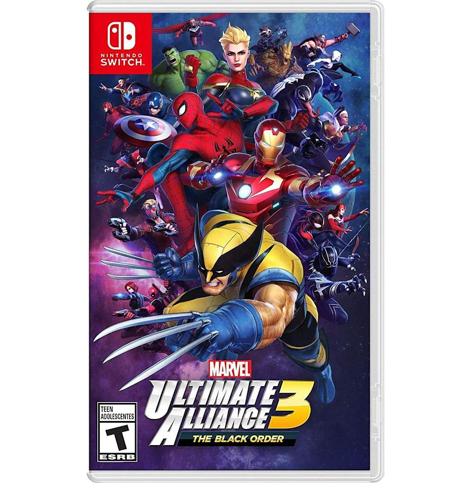 """<p><strong>Nintendo</strong></p><p>walmart.com</p><p><strong>$49.94</strong></p><p><a href=""""https://go.redirectingat.com?id=74968X1596630&url=https%3A%2F%2Fwww.walmart.com%2Fip%2F338329072&sref=https%3A%2F%2Fwww.esquire.com%2Flifestyle%2Fg23497791%2Fbest-marvel-gifts-ideas%2F"""" rel=""""nofollow noopener"""" target=""""_blank"""" data-ylk=""""slk:Buy"""" class=""""link rapid-noclick-resp"""">Buy</a></p><p>Build out your Marvel gaming library with the newest title in this iconic series with arcade origins.</p>"""