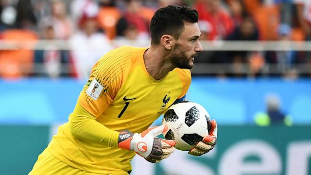 The goalkeeper was named between the posts for Les Blues' World Cup clash with Peru, becoming his nation's seventh centurion