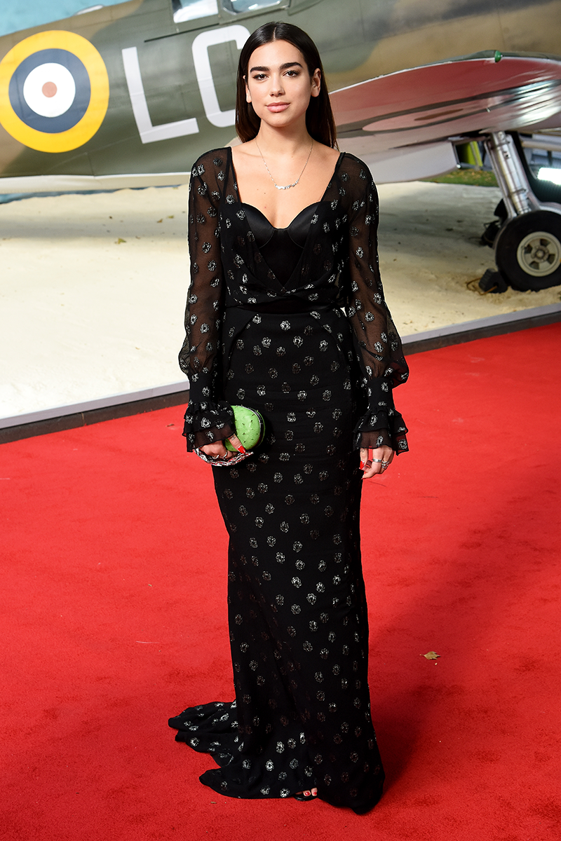 <p>If you cast your mind back to 2017, Dua arrived at the Dunkirk red carpet premiere repping this elegant Ulyana Sergeenko maxi dress.</p>