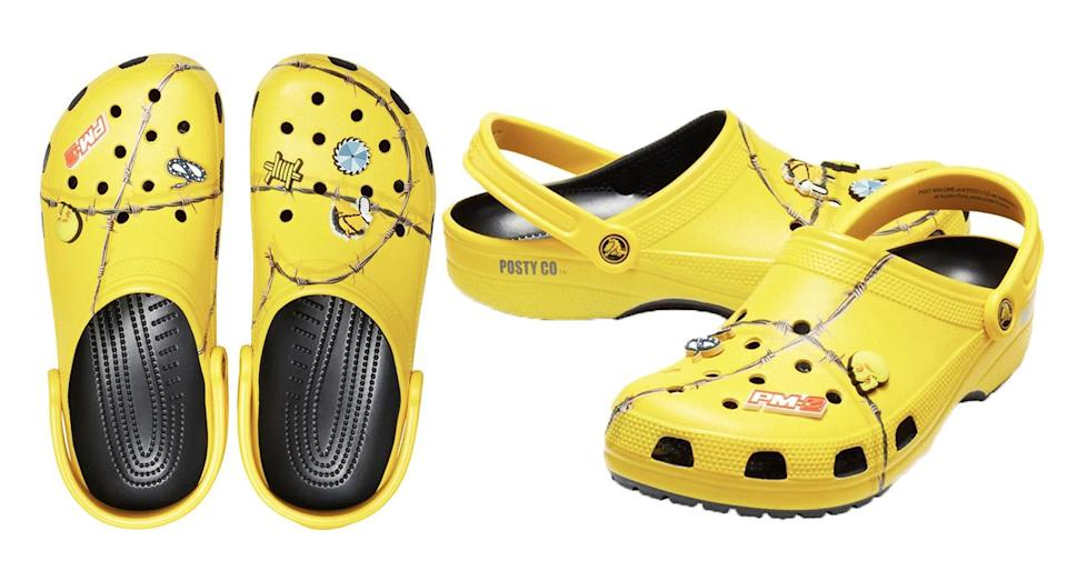 The Post Malone Crocs sold out in less than ten minutes online. [Photo: Getty]