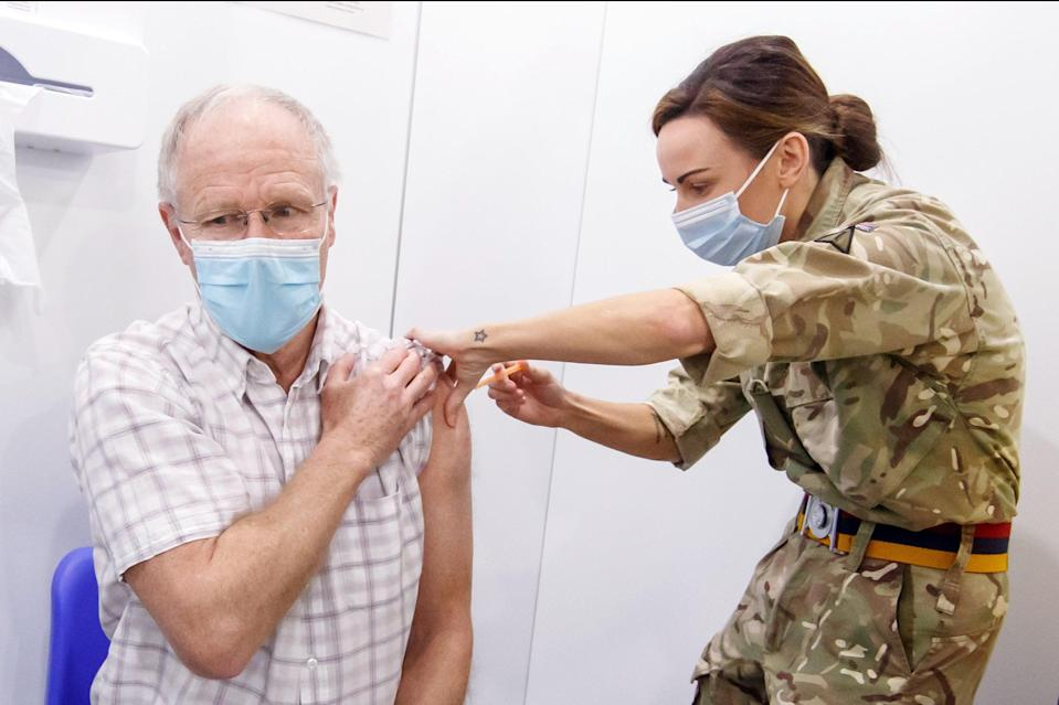 <p>Mass vaccination centres across the capital are reported to be standing idle</p> (PA)
