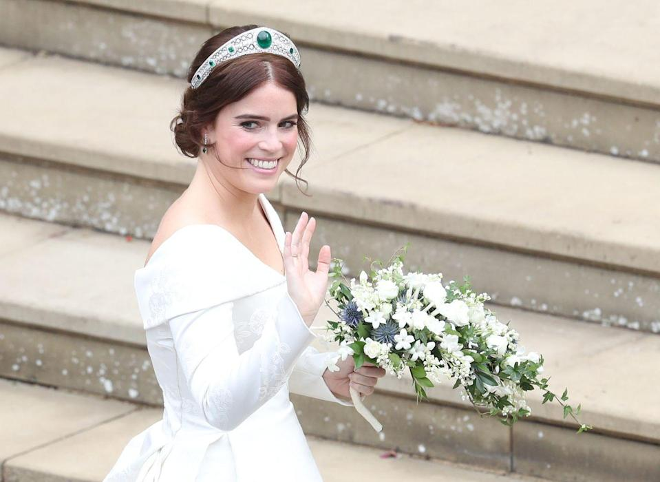 "<p><strong>Correction pronunciation:</strong> Prin-CESS YOO-juh-nee</p><p><strong> Tip: </strong>The Princess told <a href=""https://www.telegraph.co.uk/news/features/3635823/Princess-Eugenie-Little-Princess-Sunshine.html"" rel=""nofollow noopener"" target=""_blank"" data-ylk=""slk:The Telegraph"" class=""link rapid-noclick-resp"">The Telegraph</a> her name is pronounced like ""use your knees"" or similar in sound to the word ""bouji.""</p>"