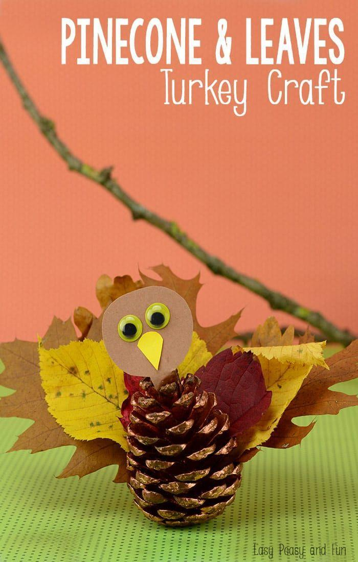"""<p>Here's a craft for the nature lovers among you! With just a pinecone plucked from your own backyard, plus a smattering of fall leaves, you're halfway to this adorable makeshift turkey.</p><p><strong>Get the tutorial at <a href=""""https://www.easypeasyandfun.com/pinecone-turkey-craft/"""" rel=""""nofollow noopener"""" target=""""_blank"""" data-ylk=""""slk:Easy Peasy and Fun"""" class=""""link rapid-noclick-resp"""">Easy Peasy and Fun</a>.</strong></p><p><strong><a class=""""link rapid-noclick-resp"""" href=""""https://www.amazon.com/Pinecones-Bulk-Crafts-Natural-Unscented/dp/B07JQQVMV7?tag=syn-yahoo-20&ascsubtag=%5Bartid%7C10050.g.28638625%5Bsrc%7Cyahoo-us"""" rel=""""nofollow noopener"""" target=""""_blank"""" data-ylk=""""slk:SHOP PINECONES"""">SHOP PINECONES</a><br></strong></p>"""