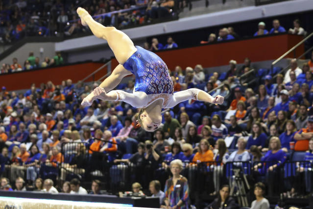 One former gymnast characterized the comments as sexualizing a sport that already deals with such problems. (AP Photo/Gary McCullough)
