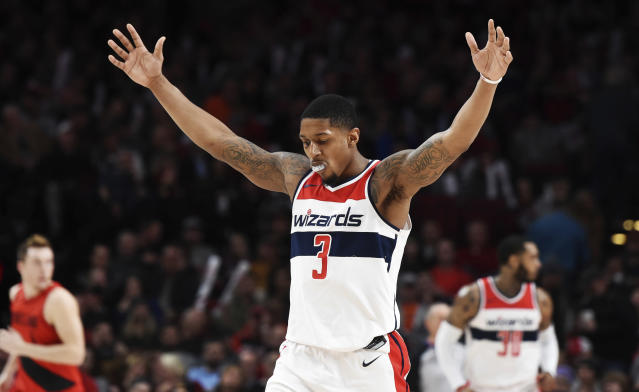 Bradley Beal was the master of all he surveyed in Portland on Tuesday night. (AP)