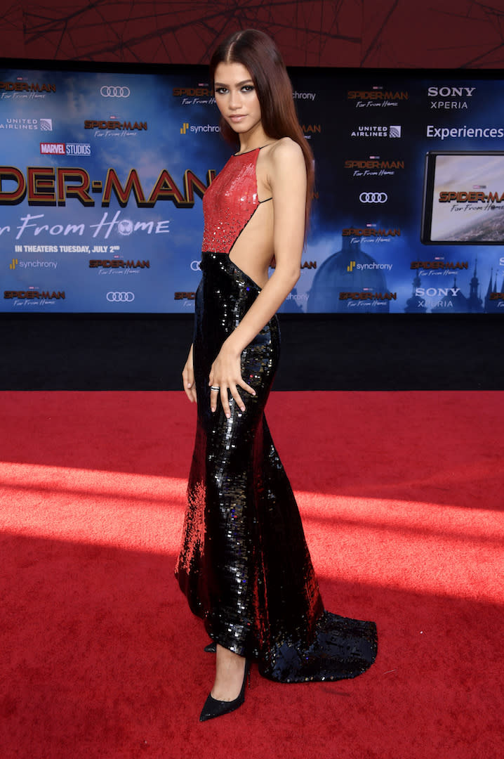 The actress is fast becoming one of our best dressed regulars and her latest looks certainly didn't disappoint. The silver screen star chose a backless Armani Prive sequin dress and Christian Louboutin shoes for her most recent red carpet appearance. <em>[Photo: Getty]</em>