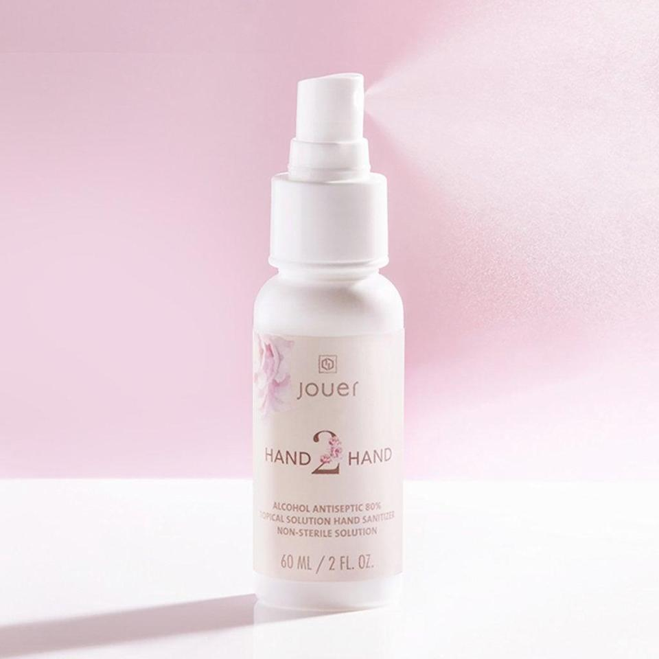 """<p>You can't go wrong with this <a href=""""https://www.popsugar.com/buy/Jouer-Cosmetics-Hand-2-Hand-Sanitizer-569734?p_name=Jouer%20Cosmetics%20Hand%202%20Hand%20Sanitizer&retailer=jouercosmetics.com&pid=569734&price=12&evar1=savvy%3Aus&evar9=47434237&evar98=https%3A%2F%2Fwww.popsugar.com%2Fsmart-living%2Fphoto-gallery%2F47434237%2Fimage%2F47434249%2FJouer-Cosmetics-Hand-2-Hand-Sanitizer&list1=shopping%2Csoap%2Ccoronavirus&prop13=api&pdata=1"""" class=""""link rapid-noclick-resp"""" rel=""""nofollow noopener"""" target=""""_blank"""" data-ylk=""""slk:Jouer Cosmetics Hand 2 Hand Sanitizer"""">Jouer Cosmetics Hand 2 Hand Sanitizer</a> ($12).</p>"""