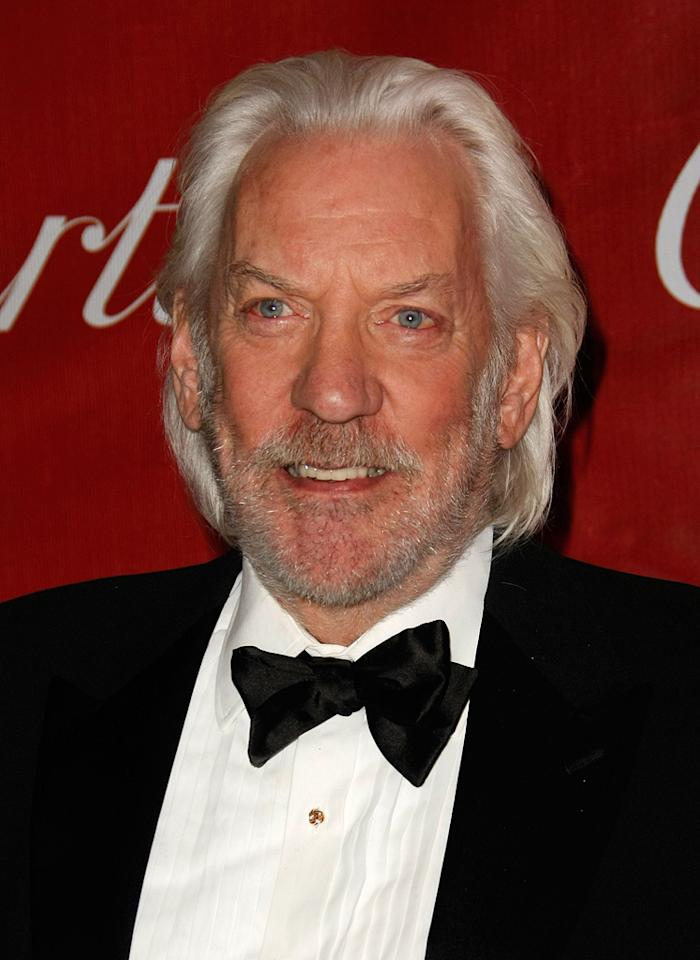 """<a href=""""http://movies.yahoo.com/movie/contributor/1800010767"""">Donald Sutherland</a> at the 20th Annual Palm Springs Film Festival Gala - 01/06/2009"""