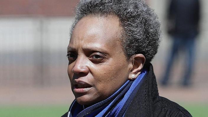 Chicago Mayor Lori Lightfoot is reportedly under fire for spending over $280 million in federal COVID-19 relief funds on personnel costs for the Chicago Police Department. (Photo by Jonathan Daniel/Getty Images)