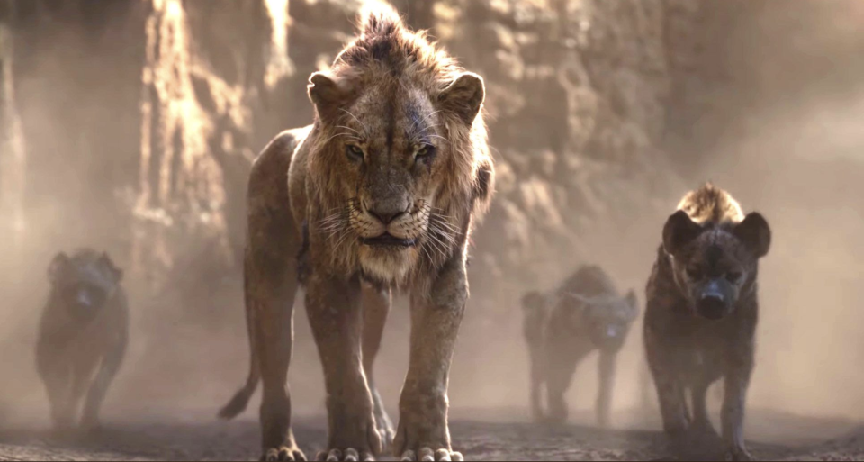 Scar and his hyena henchmen in 'The Lion King' (credit: Disney)