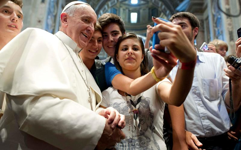 The pope has never been seen with his own smartphone in public - Reuters