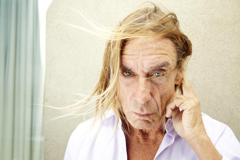 """This May 1, 2013 photo shows Iggy Pop, of Iggy & The Stooges, posing for a portrait to promote his new studio album, """"Ready To Die,"""" in New York. Born in relative obscurity at their start 40 years ago, the band continues to get more and more popular with age. (Photo by Dan Hallman/Invision/AP)"""